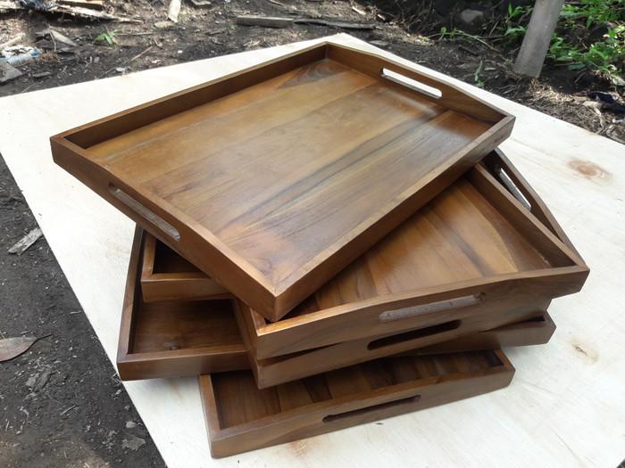 Foto Produk Nampan Kayu Jati XL 60x42cm dari Lean Furniture