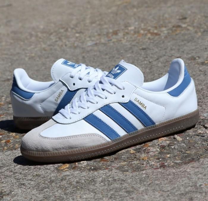 adidas samba white blue Off 59% - rkes