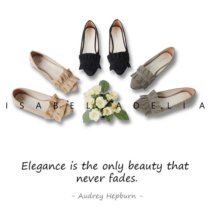 Isabel audrey sepatu balet wanita casual flat shoes simple - beige 38
