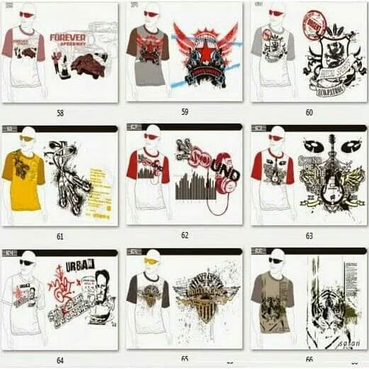 84 Foto Desain Kaos Distro Cdr Gratis Terbaik Download Gratis