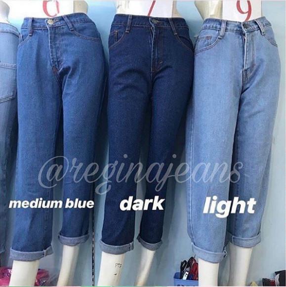 Jual 3 Warna Celana Boyfriend Jeans Wanita Celana Gombrong Boyfriend Navy 28 Kota Tangerang Toko Regina Jeans Tokopedia