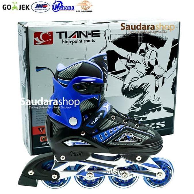 Tian-E Sepatu Roda Inline Skate Roda Karet Biru / Sepaturoda Tian-E