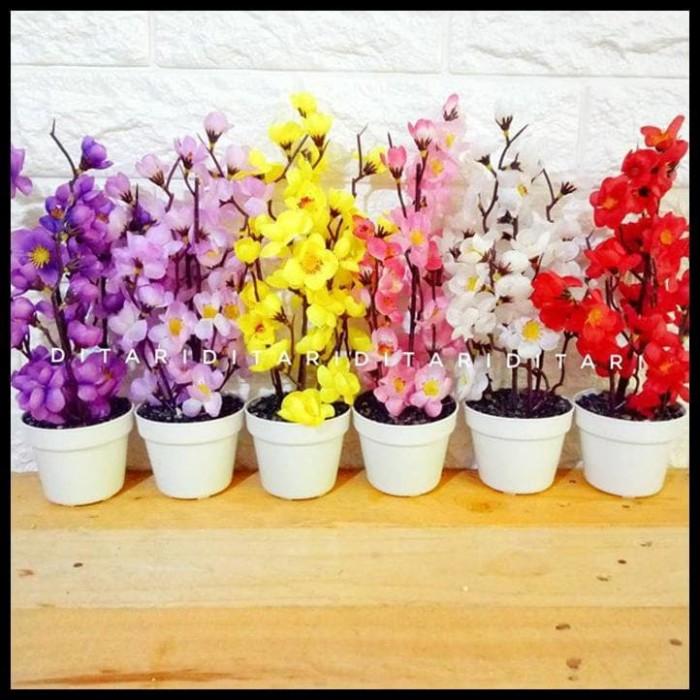 BERKUALITAS bunga sakura bunga plastik artificial palsu dekorasi rumah 3e31c7caef