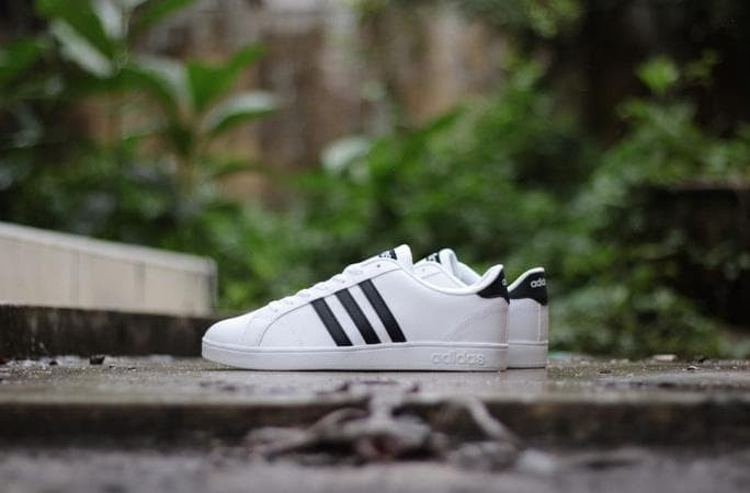 ... Jual Promo Sepatu Adidas Neo Baseline White Strip Black Original ...  best online b22d9 ... fd0f7d583c