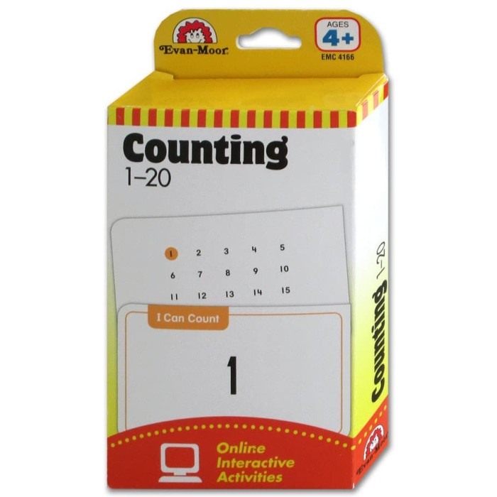 Evan Moor Counting 1-20 Flash Cards (56 Cards)