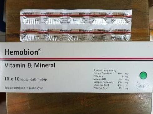 Hemobion Harga Strip Isi 10 Kapsul Haemobion Vitamin Tambah Darah