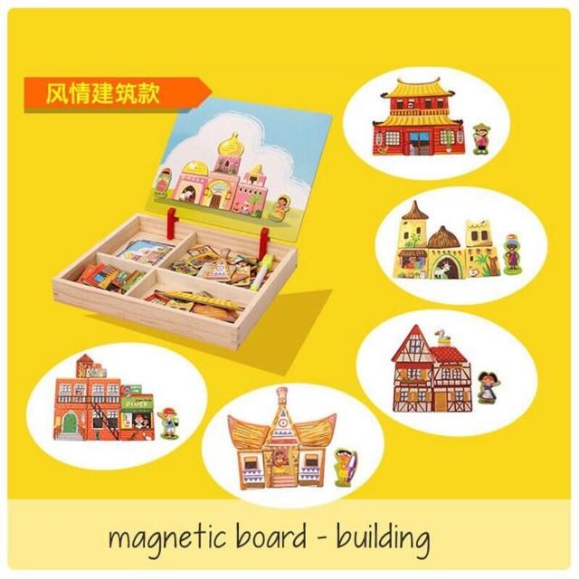 Edufuntoys MAGNETIC BOARD BUILDING mainan edukasi papan tulis magnet