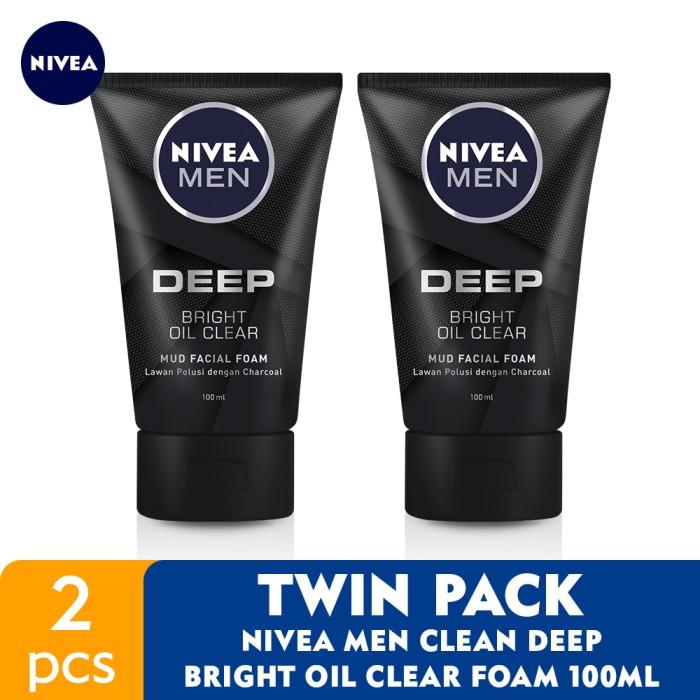 Foto Produk NIVEA MEN Clean Deep Bright Oil Clear Foam 100ml - Twin Pack dari NIVEA Official