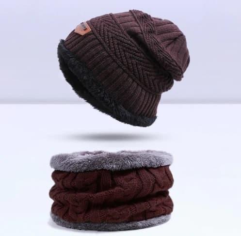 Jual Topi Kupluk Wool Rajut Musim Dingin Winter With Scraf 001 ... 46239f753f