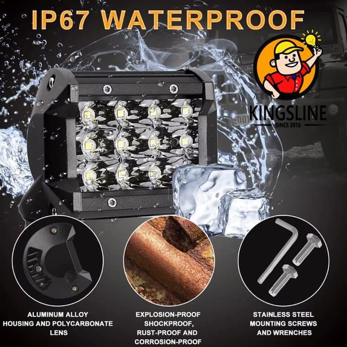 harga Lampu sorot mobil motor offroad led spotlight 36 watt Tokopedia.com