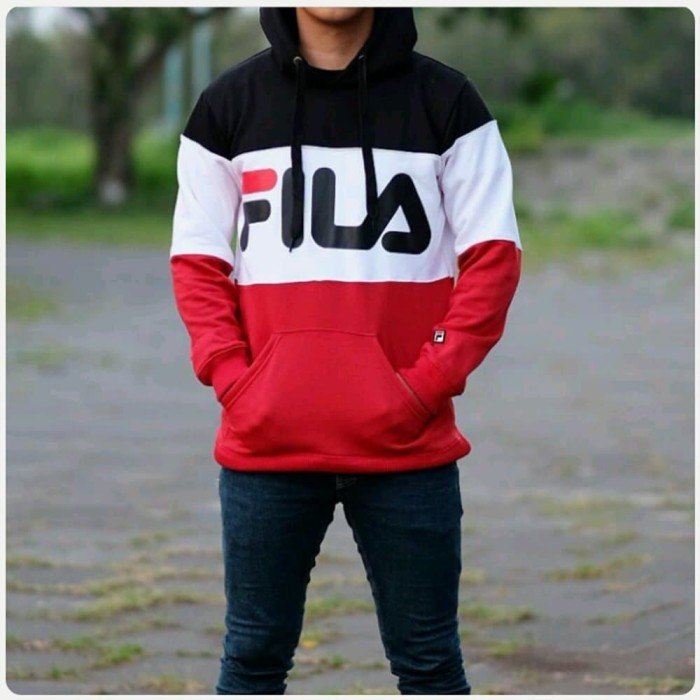 45bbdf0099a5 Jual Hoodie FILA Colourbox Navy Original - Christian-Shop