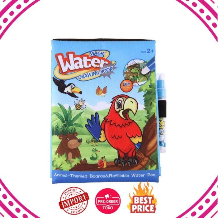Dijual Mainan Air Mewarnai Buku Anakanak Hewan Lukisan Sihir Air
