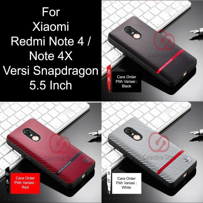 Calandiva Gentleman Series Case Xiaomi Redmi Note 4/4X Snpdragon Black - Hitam