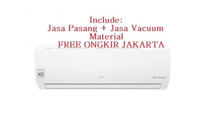 harga Promo ac lg dual inverter 1 pk t-10ev3 (freon r-32 250-1000 watt) Tokopedia.com