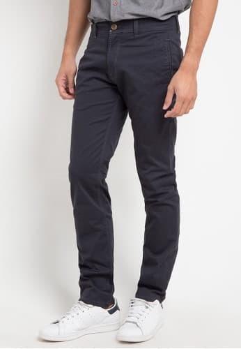 Lois jeans original - celana panjang chino sls670ch - grey charcoal 29