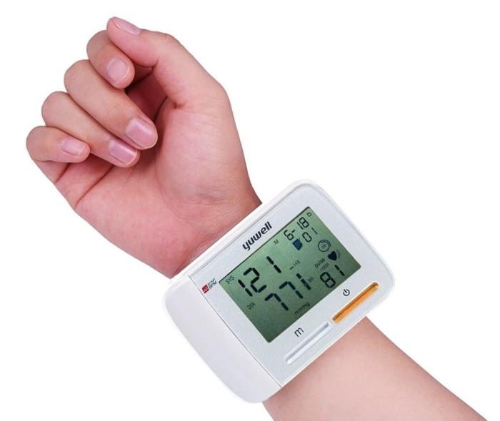 harga Wrist blood pressure monitor merk yuwell heart rate monitor portable Tokopedia.com