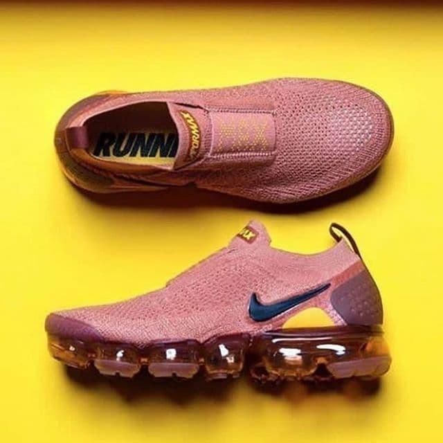 """9685e53711 Jual Nike Air Vapormax Flyknit Moc 2 """" Terra Blush """" / Sepatu Wanita ..."""