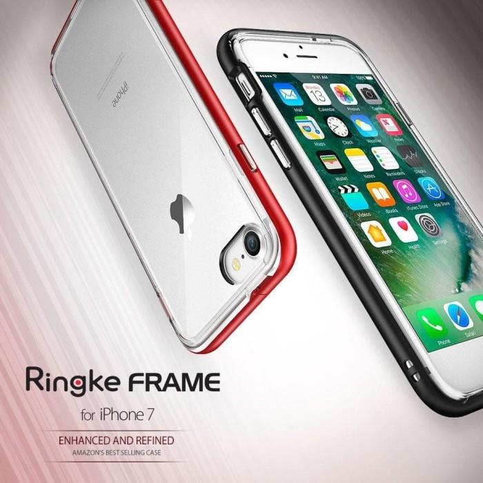 [2pcs] Ringke for iPhone 7 & 7 Plus FRAME [SF Blk] & SLIM [SF Blk]