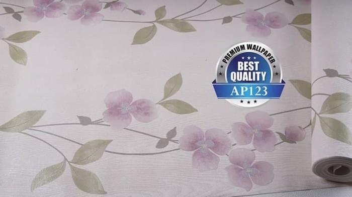 Jual Wallpaper Dinding Floral Ungu Cantik Kota Malang
