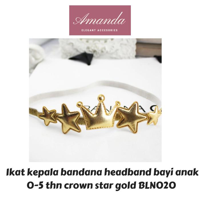 Foto Produk Ikat kepala bandana headband bayi anak mahkota crown tiara BLN020 dari HAND BOUQUET AMANDA