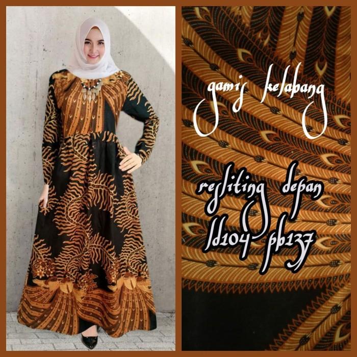 Jual Baju Wanita Dress Gamis Batik Kelabang Terbaru 2019 Kam02