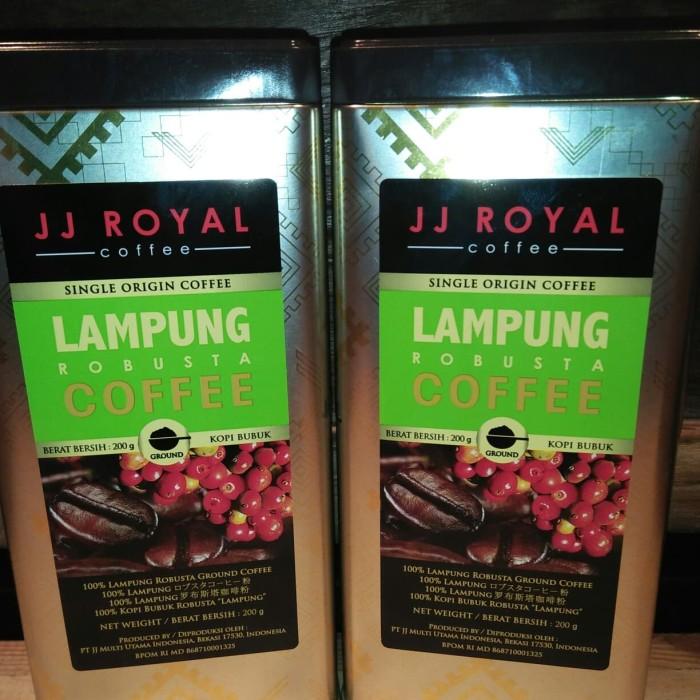 JJ Royal Lampung Robusta ground Tin 200gr