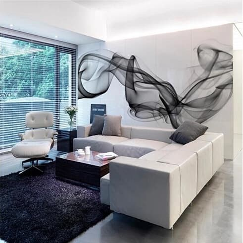 Jual Promo Wallpaper Modern 3d Wall Mural Wallpaper Black Whit