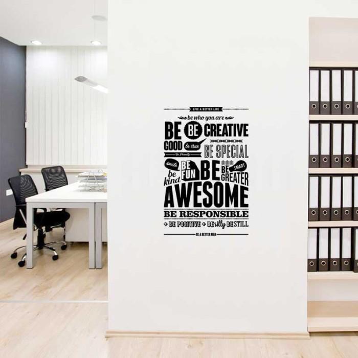 jual murah wall stiker live better life dinding kaca rumah kantor