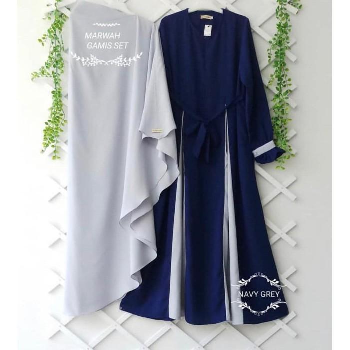 Jual Baju Gamis Syari Marwah Maxi Dress Baju Muslim Wanita Murah Kota Bandung B O M Baju Online Murah Tokopedia