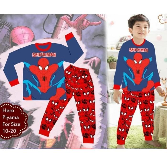 Jual (5-10th) Piyama Baju Tidur Anak Laki London Kids Spiderman ... 8f5a06e114