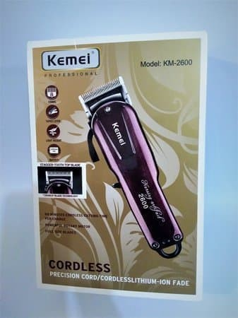 KEMEI KM-2600 Professional Rechargeable Electric Hair Clipper Cordless
