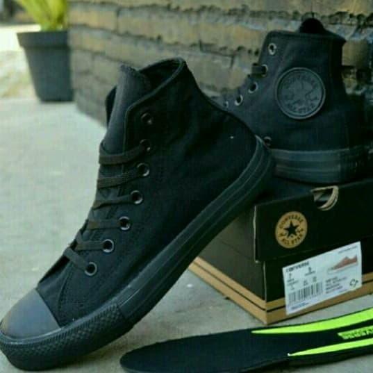 Jual Sepatu Converse Allstar Full Black Hitam Original Vietnam