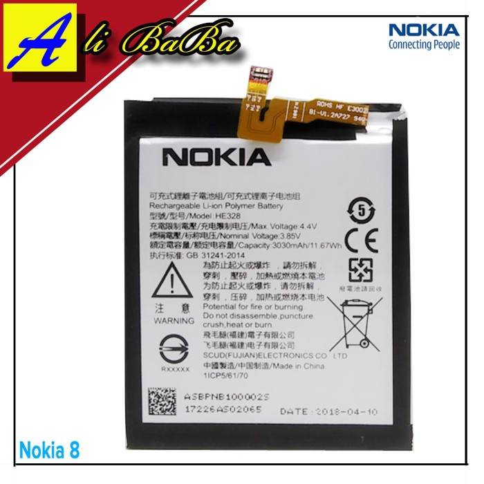 harga Baterai handphone nokia 8 he328 batre hp nokia 8 battery nokia 8 batu Tokopedia.com