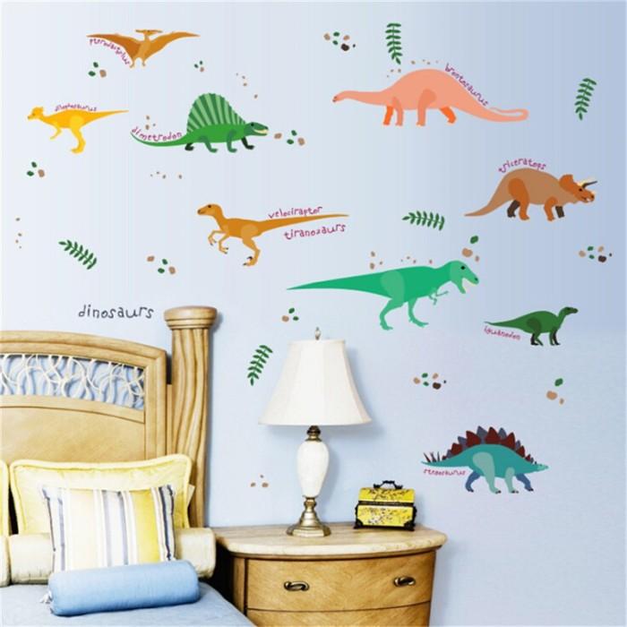 jual stiker dinding decal desain dinosaurus u kamar anak - kota