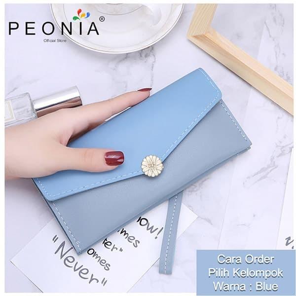 Foto Produk Peonia - Dompet Wanita Panjang Hp Import - Korea Wallet - Christy LG - Blue dari Peonia Official Store