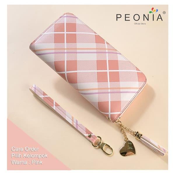 Foto Produk Peonia - Dompet Wanita Panjang Hp Import - Korea Wallet - Bellberry LG - Pink dari Peonia Official Store