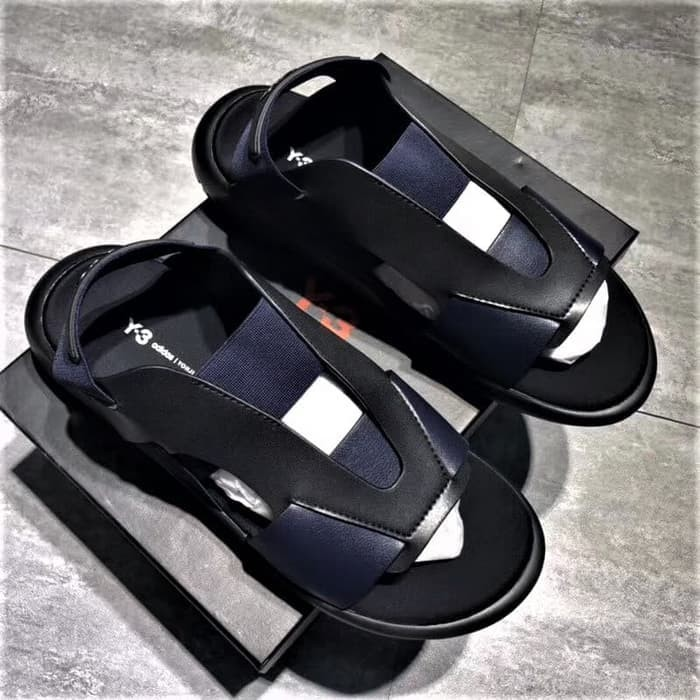 4d2569d75 Jual Adidas Sandal Y3 Yohji Yamamoto Qasa Elle Black Blue - Sneakers ...