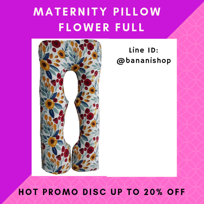 Bantal Hamil Maternity Pillow Preggo Pillow Motif Flower Full