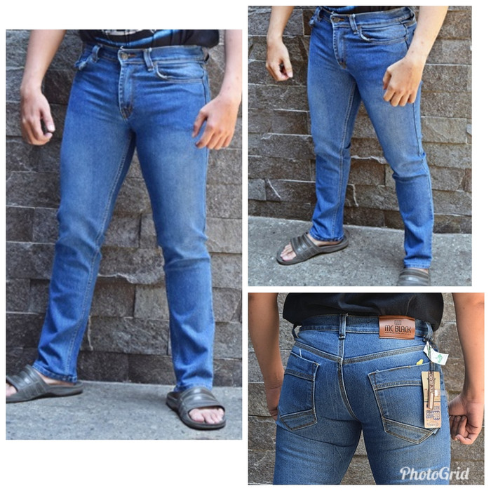 7eb3ee7ae551d2 ... harga Celana panjang pinsil pria cjp 3 warna blue jeans bahan levis  jeans Tokopedia.com