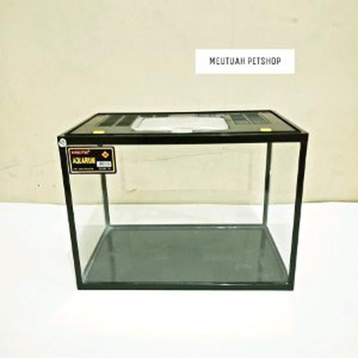 Jual Paket Tank Aquarium Akrilik Plus Tutup Size M Volume 18 Lit
