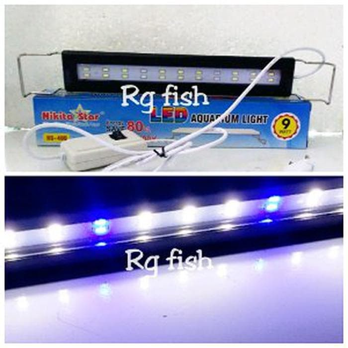 lampu led aquarium 30-40cm nikita star ns 400 Murah