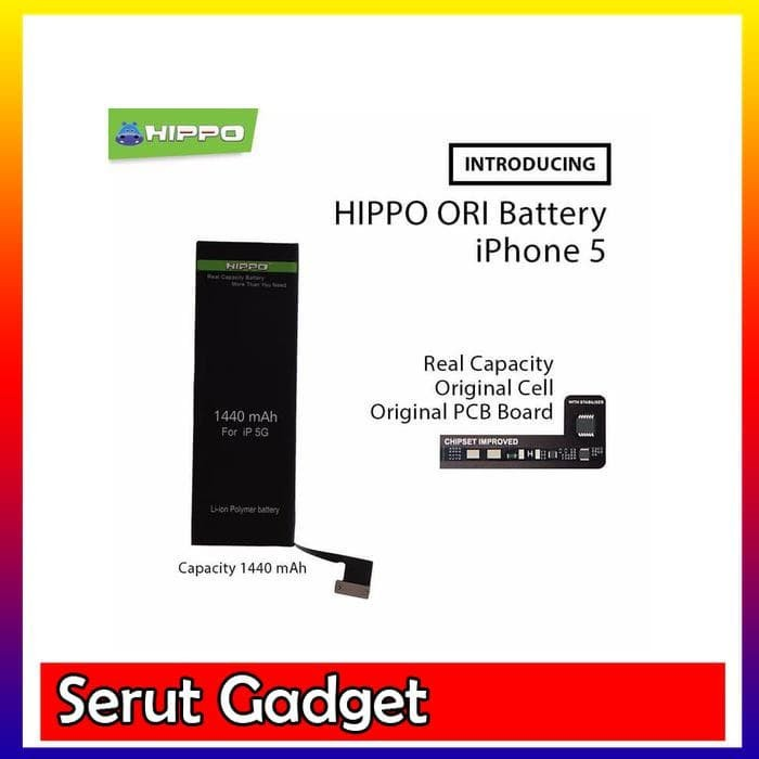 ... Hippo baterai iphone 5 5G 1440 MAH Original Premium Cell Quality