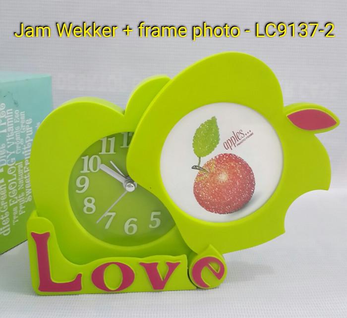 Jam Weeker / Tidur Plus Frame Photo LC 9137 - 2