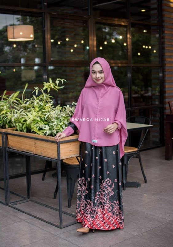 Jual Set Batik 03 Hitam By Swarga Hijab Kab Tulungagung Galeri Busana Syari Tokopedia