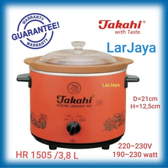 harga ( pallet kayu ) slow cooker takahi 38 liter via kurir jne/j&t Tokopedia.com