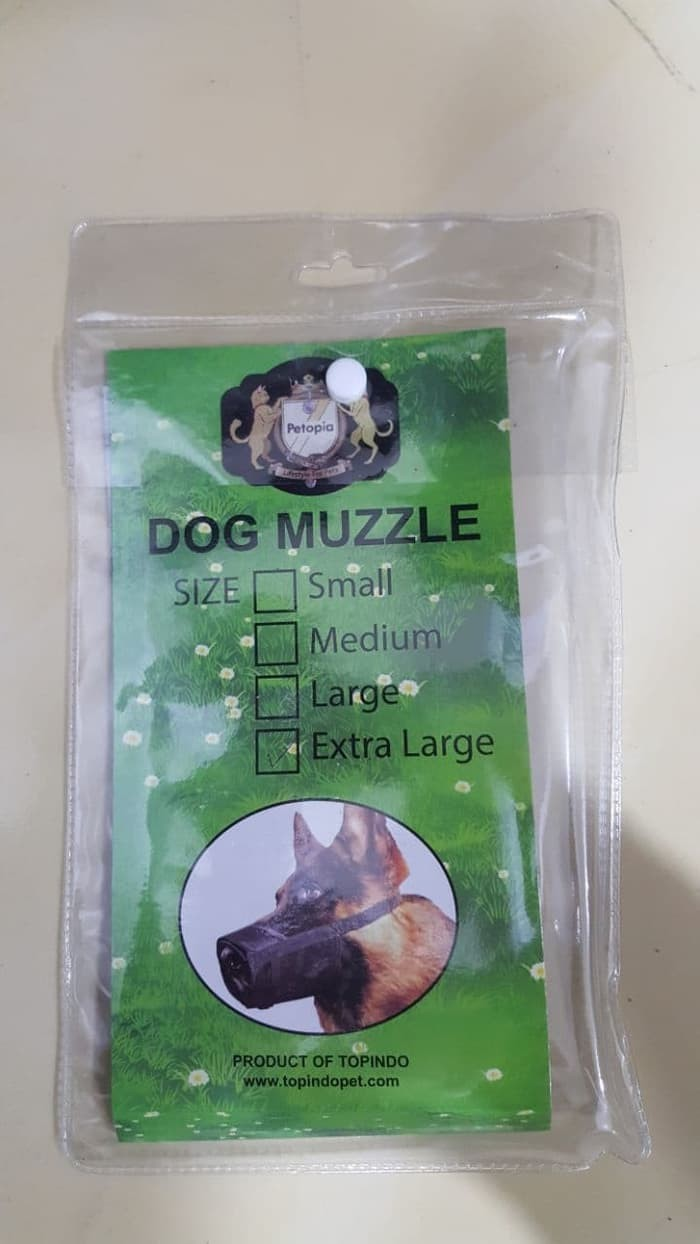 Jual Adjustable Dog Muzzle size L Petopia Pet Gear - Penutup Mulut Anjing -  Alkins Pet Shop | Tokopedia