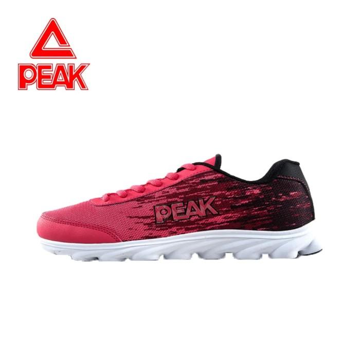 Peak Sepatu Running Peak Original E51058h Black Pink - 37