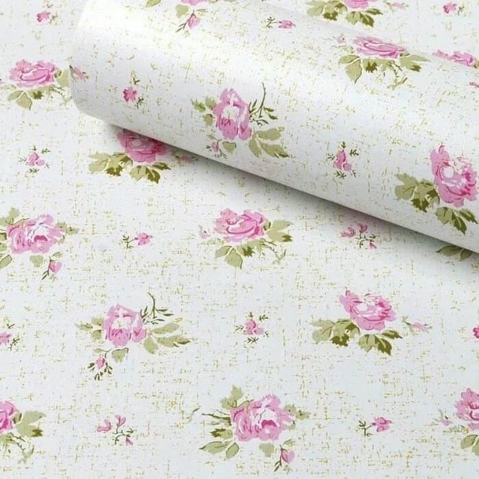 Jual Wallpaper Dinding Shabby Pink White Jakarta Utara Lavita Chelsea Tokopedia