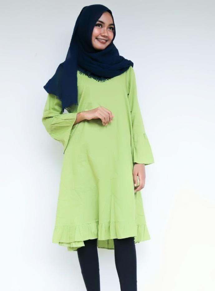 Jual Cantik Baju Dress Tunik Gamis Model Lengan Lonceng Rempel Kerut Murah Kota Bandung Yosep Carles Tokopedia