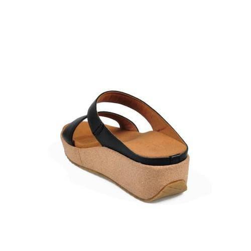 Beajove Summer Wedges Sandals Hitam